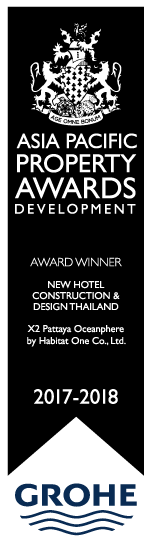 X2 Pattaya Oceanphere receives International Property Awards Winner New Hotel Construction and Design 2017