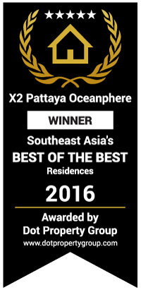 X2 Pattaya Oceanphere got South East Asia's Winner Best of the Best Residences in 2016