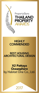 X2 Pattaya Oceanphere-Thailand Property Awards Winner Best Housing Development 2017