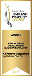 X2 Pattaya Oceanphere-Thailand Property Awards Highly Commended Best Housing Development (Eastern Seaboard) 2017
