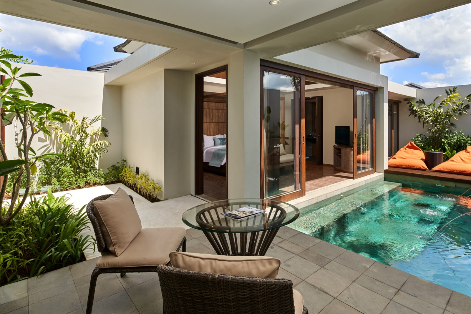 X2 Bali Breakers Resort-Pool Villa Balcony 2